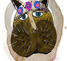 Scruffy Cat by Ginny Luttrell