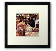 Shopping at the Souk Framed Print