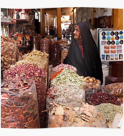 Shopping at the Souk Poster