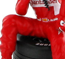 """Alonso """"Pondering another win"""" Sticker"""