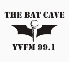 The Bat Cave - black logo by Greg Carrick