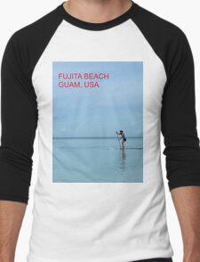 Fujita Beach, Guam, USA Men's Baseball ¾ T-Shirt