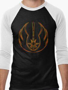 Jedi Order Emblem (Acid Scheme) Men's Baseball ¾ T-Shirt