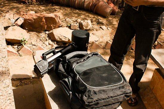Photographer with his equipment by ashishagarwal74