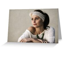 Rebecca and the Headband Greeting Card