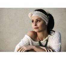 Rebecca and the Headband Photographic Print