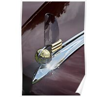 Lincoln Continental Cabriolet hood ornament (1942) Poster