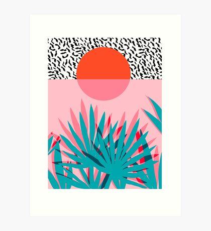 Whoa - palm sunrise southwest california palm beach sun city los angeles hawaii palm springs resort decor Art Print