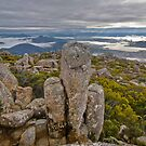 Mount Wellington Stone Stack by Ben Rae