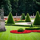 Beautiful park with a statue by Maxim Mayorov