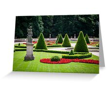 Beautiful park with a statue Greeting Card