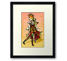 Colourful Figure drawing Framed Print