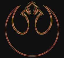 Rebel Alliance Emblem (Acid Scheme) Kids Clothes