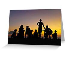 Sunset Kuta Moment  Greeting Card