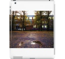 schoolyard. twilight iPad Case/Skin