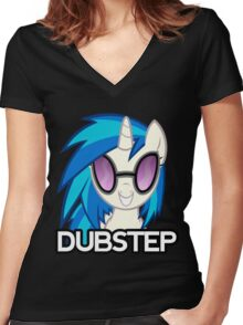 DJ PON-3 Women's Fitted V-Neck T-Shirt