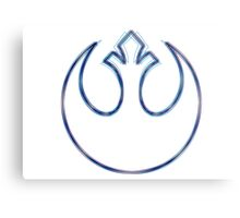 Rebel Alliance Emblem (Alkali Scheme) Metal Print