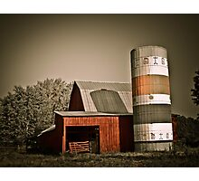 Barn & Silo  Photographic Print