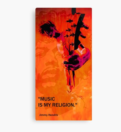music is my religion Canvas Print