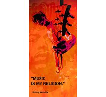 music is my religion Photographic Print