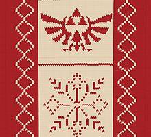 Nerdy Christmas Sweater: Zelda by Minette Wasserman