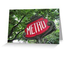 Paris: Metro Greeting Card