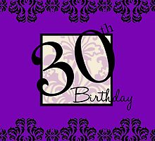 30th Birthday Card / Invite by design89