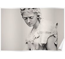 White marble sculpture Poster
