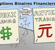Le trading du forex et options binaires en dessin comique by BinaryOptions