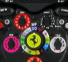 Ultimate Steering - F1 Ferrari Wheel Sticker