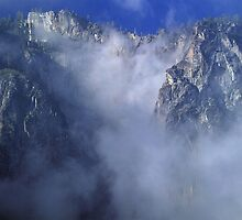 Cliffs In Clouds by rosedragon