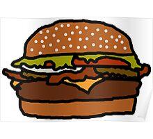 Badly Drawn Burger Poster