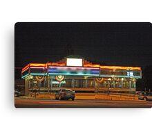 Diner at night Canvas Print