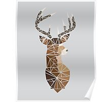Deer with Grey Antlers Poster