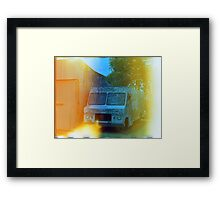 Old Truck With Graffiti Framed Print