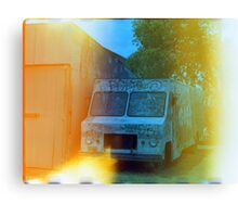 Old Truck With Graffiti Canvas Print