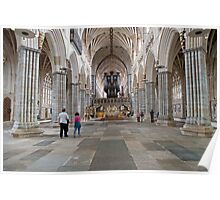 Inside Exeter Cathedral, Exeter, Devon. Poster