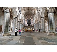 Inside Exeter Cathedral, Exeter, Devon. Photographic Print