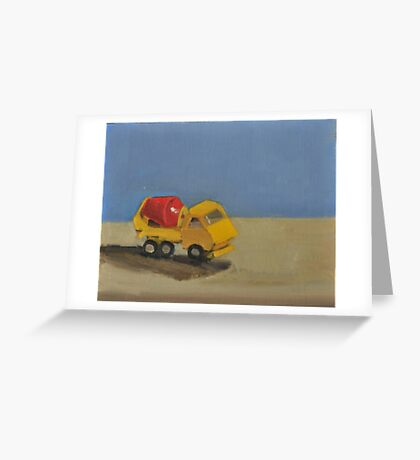 toy cement truck Greeting Card
