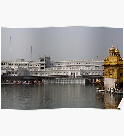 The Holy Sarovar at the Golden Temple Poster