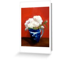 chinese  creamer with peonies Greeting Card