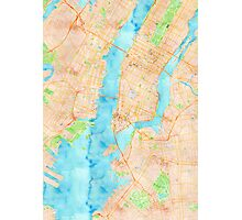 New York Watercolor Poster Photographic Print
