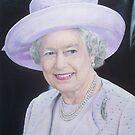 Queen Elizabeth II Portrait 2012 by Samantha Norbury