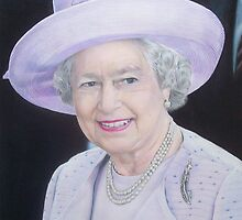 Queen Elizabeth II Portrait 2012 by Samantha Norbury