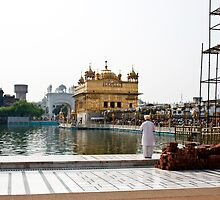 Praying at the edge of the pond inside the Golden Temple by ashishagarwal74