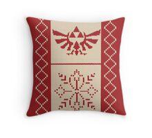 Nerdy Christmas Sweater: Zelda Throw Pillow