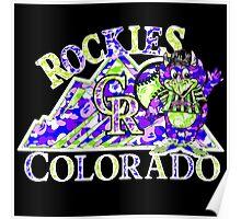 ROCKIES BLACK Poster