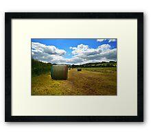 Hay Bale Framed Print