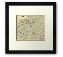 September 7 1944 World War II Twelfth Army Group Situation Map Framed Print