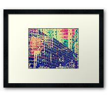 Urban Data Art  Framed Print